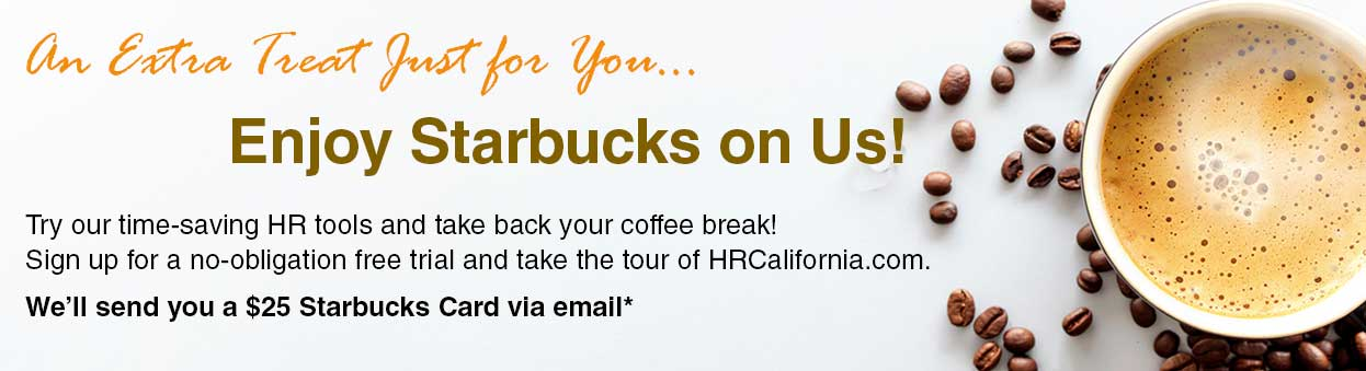 Try HRCalifornia.com and get free coffee